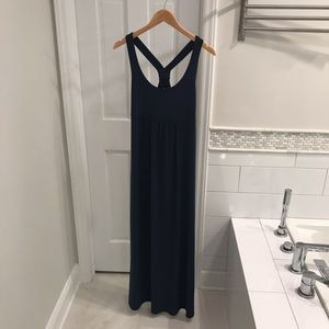 EUC Banana Republic Navy Maxi Dress sz M